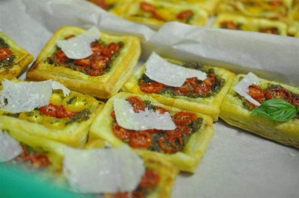 Tomato Tarts Baked For The Basil Class