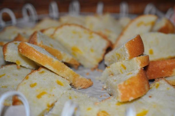 Dallas Garden Party Fresh Peach Pound Cake Slices