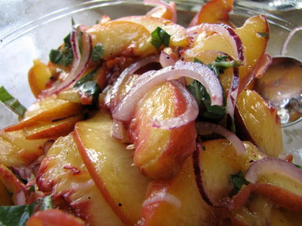 Peach And Red Onion Relish