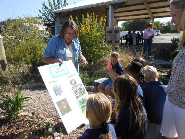 Teaching In The Wildlife Habitat At The Demonstration Garden