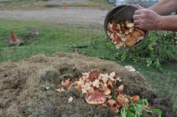 Pomegranate Hulls Will Be  Composted