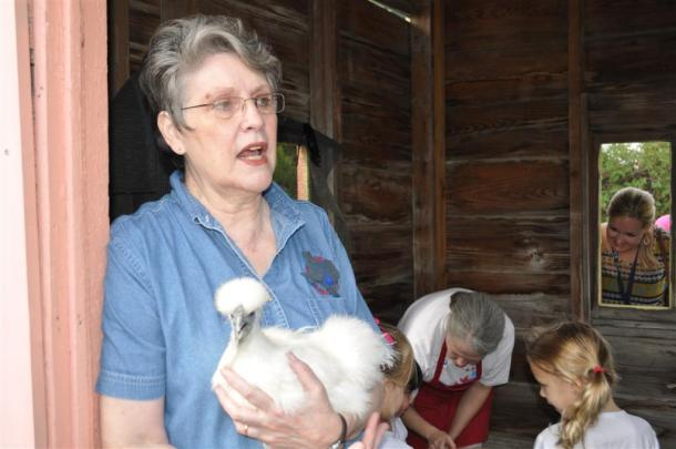 Moms And Children FromProvidence Christian School Enjoying Our Visiting Chickens