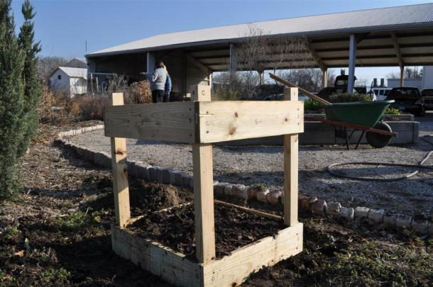 New Potato Bin At The Demonstration Garden