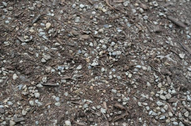 Expanded Shale and Compost Blended Together