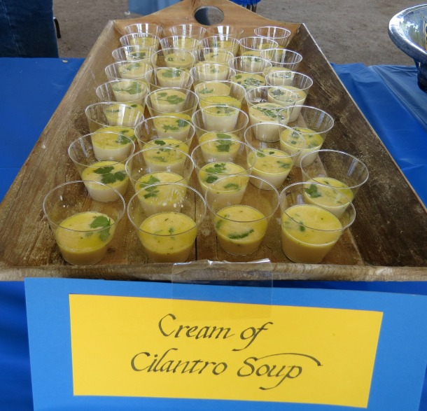 Cream of Cilantro Shooters