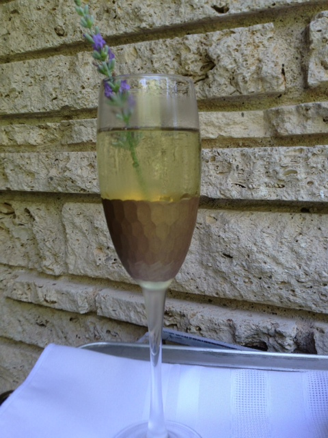 Lemon Lavendar Champagne Cocktail