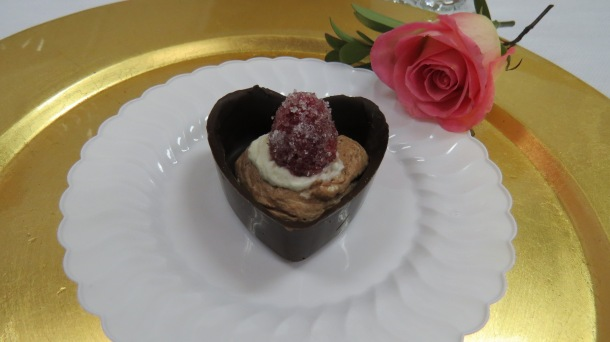 Hearts and Roses Lunch Dessert