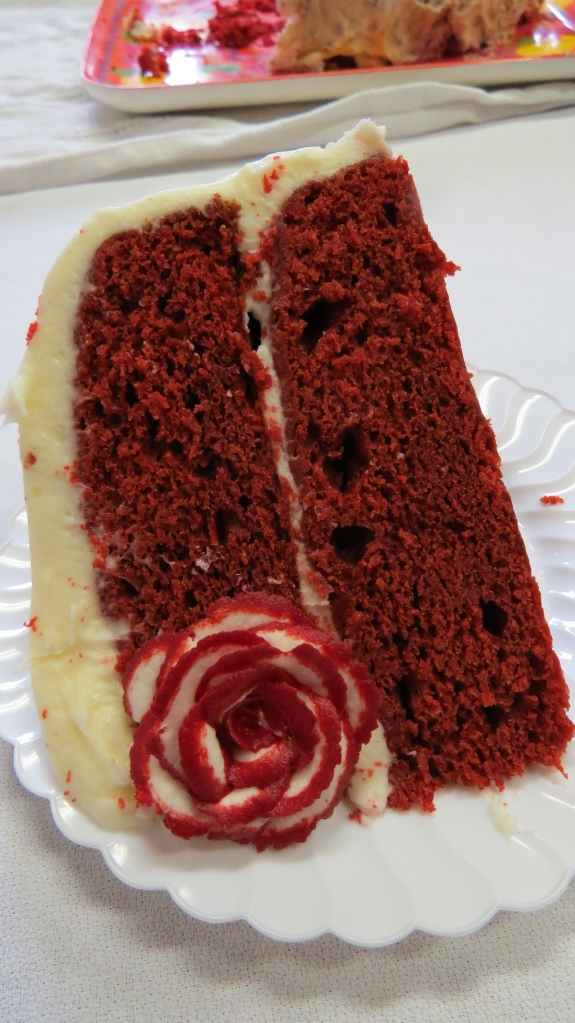 Hearts and Roses Lunch-Red Velvet Cake