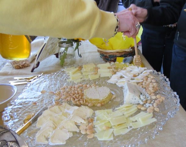 Cheese Tray Drizzled With Honey