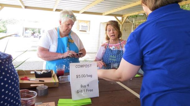 Plant sale cashiers