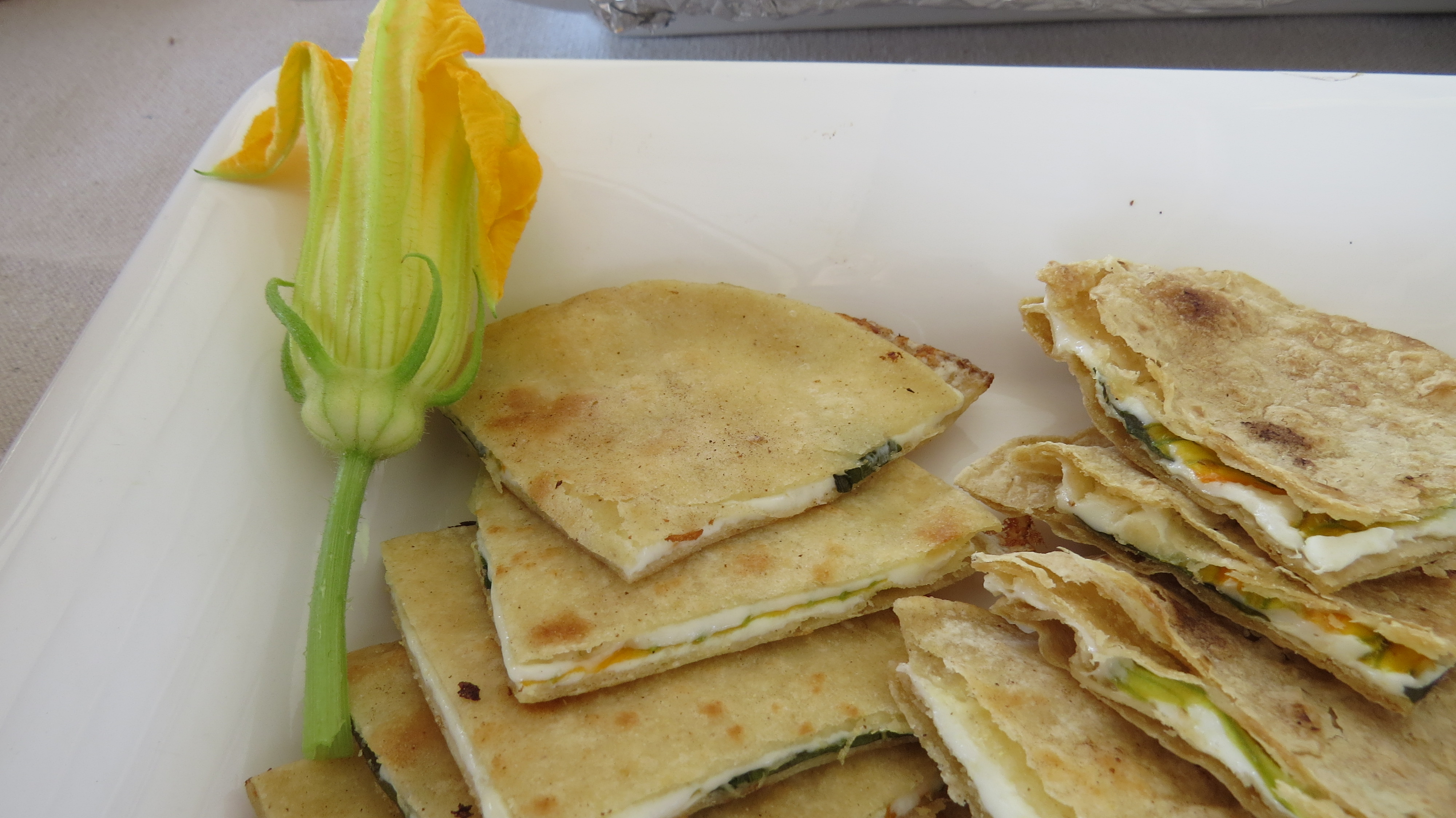cheesecake squash blossom quesadillas squash blossom quesadillas ...