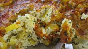 squash casserole close up