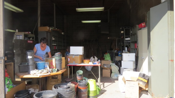 Annette and our Garage of Stuff