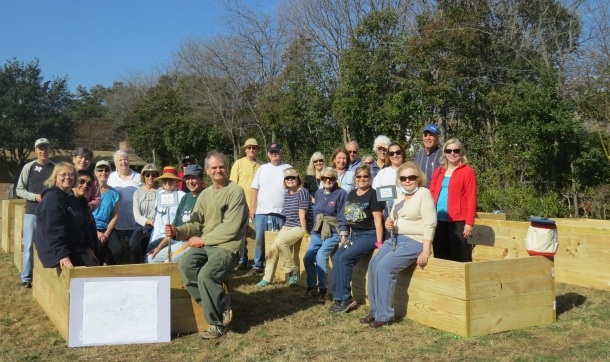 Vegetable Beds and our Crew of Dallas County Master Gardeners