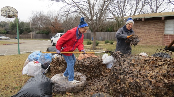 Jane and Cindy at Work Making Compost-Fast Method!