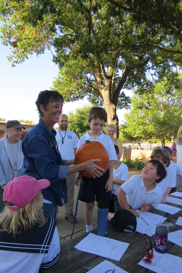 Episcopal School of Dallas field trip studying pumpkins