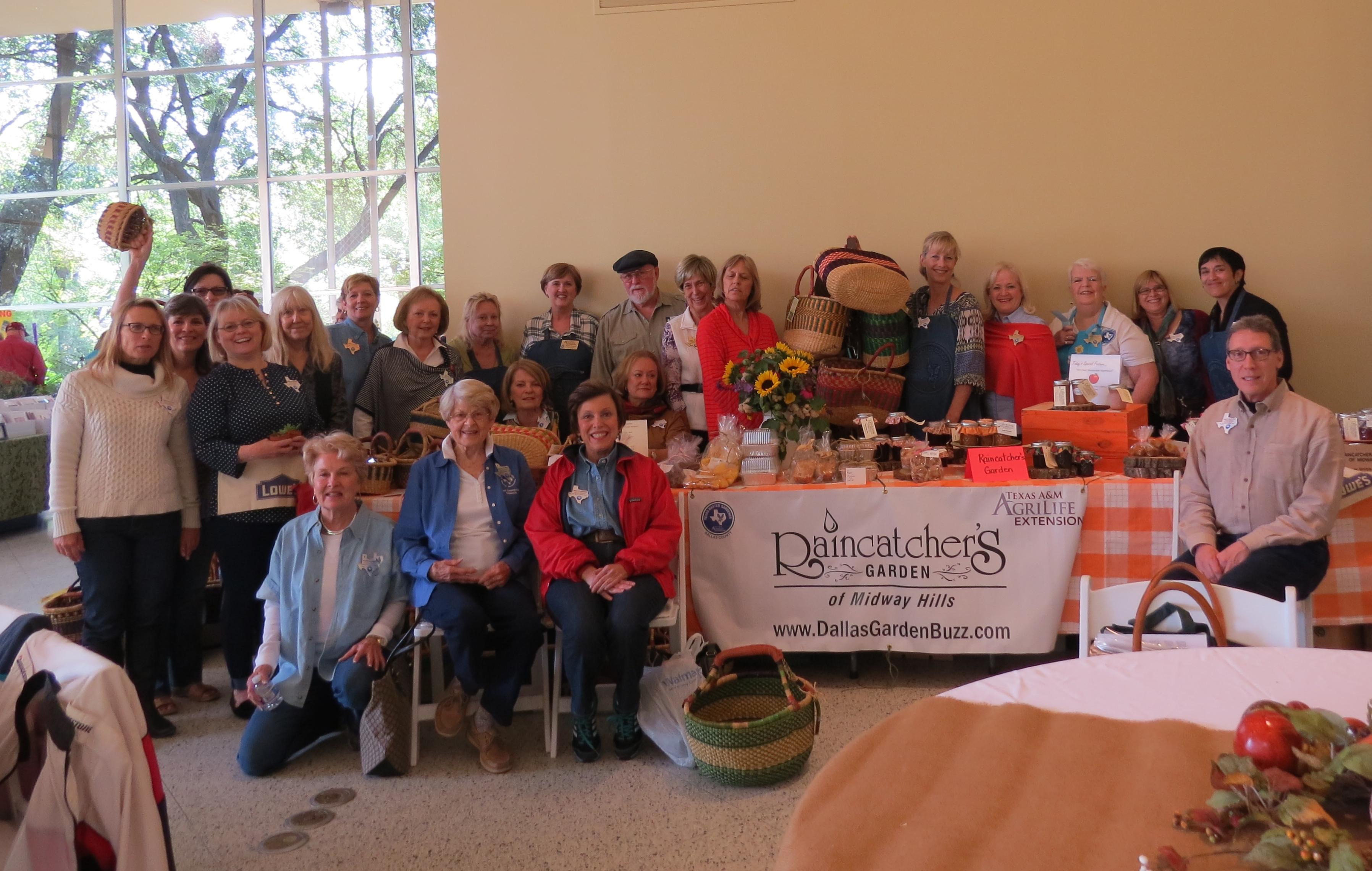 Dallas County Master Gardeners from The Raincatcher's Garden at the Craft Fair